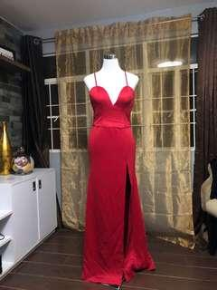 FOR RENT: RED GOWN with Slit