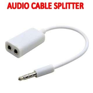 TVD007 3.5MM Stereo Headphone Audio Jack Splitter Brand New Sales