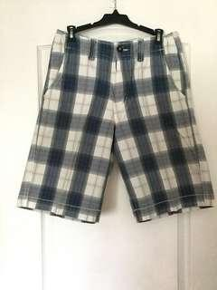 American Eagle Outfitter  blue and white plaid shorts. Size 30, Men's/Teen Boys. EUC