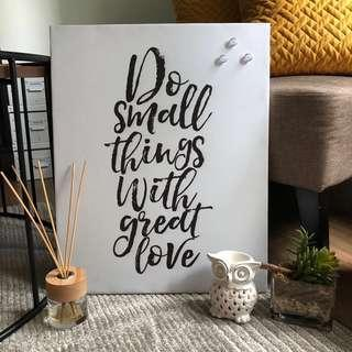 """""""Do small things with great love"""" magnetic frame"""