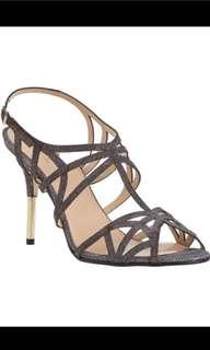 Kate Spade NY Issa evening sandals in Bronze/ Lurex sized US 8