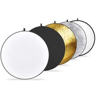 """🚚 Godox 神牛 5 in 1 Collapsible 80cm 32"""" Lighting Flash Diffuser Round Reflector Disc 五合一反光板"""