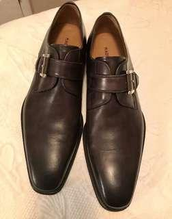 Magnanni Leather Shoes Marco Monk Brown 9.5
