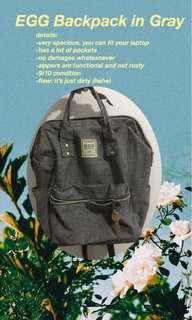 EGG Backpack in Gray