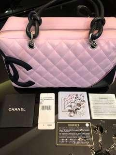 Chanel Cambon quilted pink leather bag