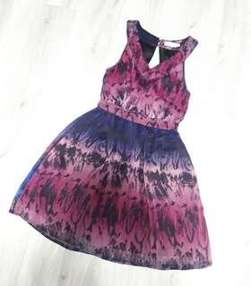 LOVE BONITO Purple Floral Dress
