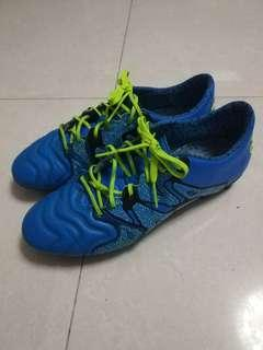 Adidas X15.1 袋鼠皮soccer cleats football shoes波boot藍色足球鞋Not nike puma