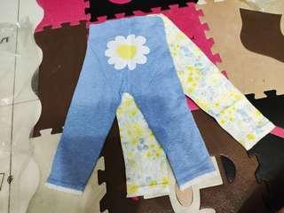 Next 女童襪褲 三件裝 小花 全棉 全新 破底價