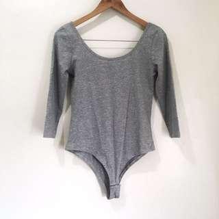 Terranova gray bodysuit