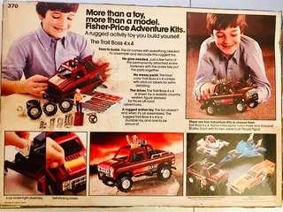 Vintage Fisher Price Trail Boss vehicle