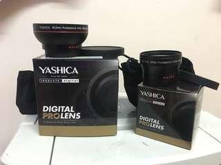 2 YASHICA digital pro lens ! Brand new!!!