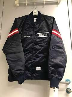 WTAPS AW18 Team Jacket Satin Navy Size M
