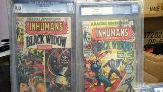 Marvel Comics vintage collectibles classics rare Key issue Hard to find comics graded Cgc 9.0 & 8.5