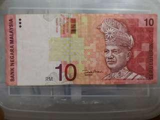 Rm10 11th Zeti signature rare (first time printing without secutity line)