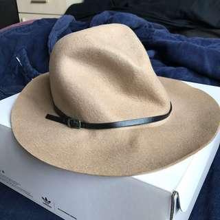 TOPSHOP紳士帽 毛呢禮帽 偵探帽