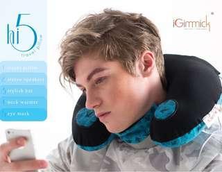 iGimmick hi5 speaker travel pillow 頸枕
