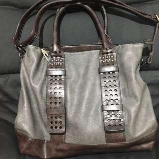 Faux Leather Bag with Sling