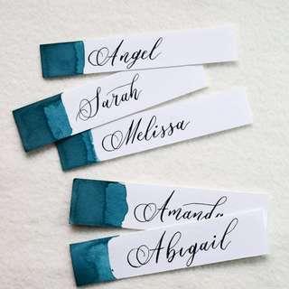 Wedding place card | Wedding calligraphy | Wedding stationery| Stylish wedding | Customized Gift Tags | Calligraphy Service