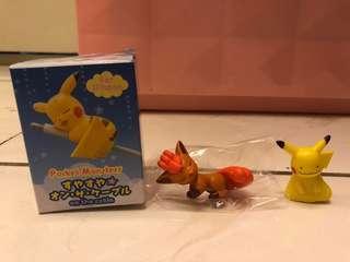 🚚 神奇寶貝 精靈寶可夢 pokemon go 六尾充電線保護公仔 百變怪皮卡丘 杯緣子 公仔