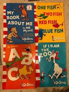 Dr Seuss The Cat in the hat - assorted books