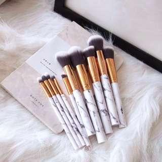 *FOC Gift Wrap* White Marble Makeup Brush Set