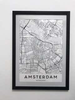 Minimalist Amsterdam Map