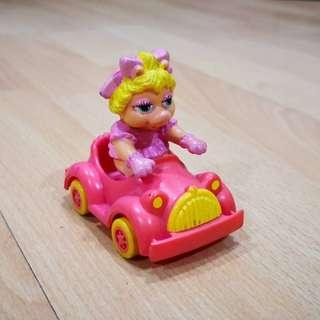 Mcdonalds Happy meal Toy Miss Piggy Muppet 1986