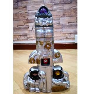 Mcdonalds Happy Meal Toy Rocket 1997 Complete
