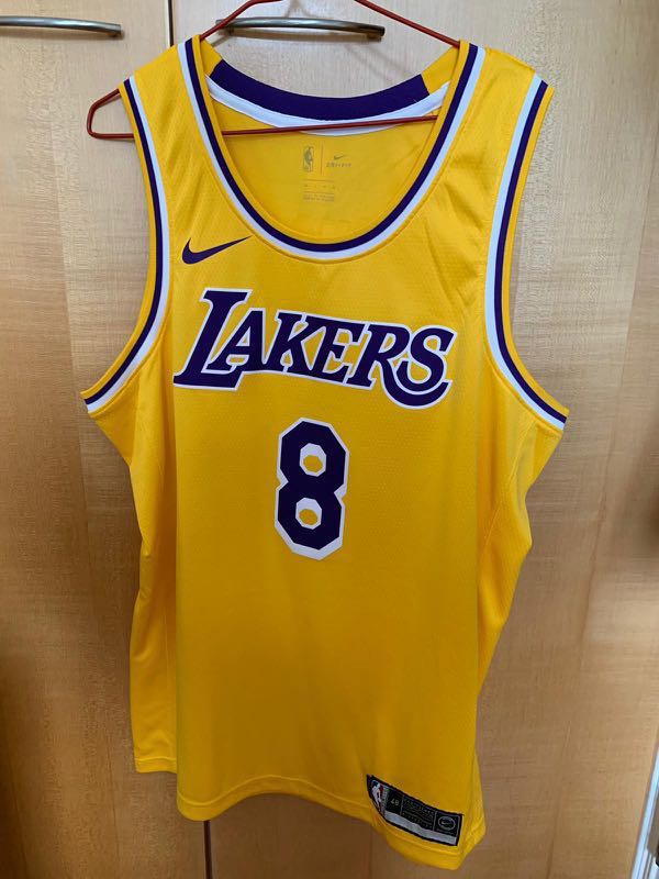 separation shoes d5498 b9fae 全新 Nike NBA Lakers Jersey Kobe Bryan 8 Size L
