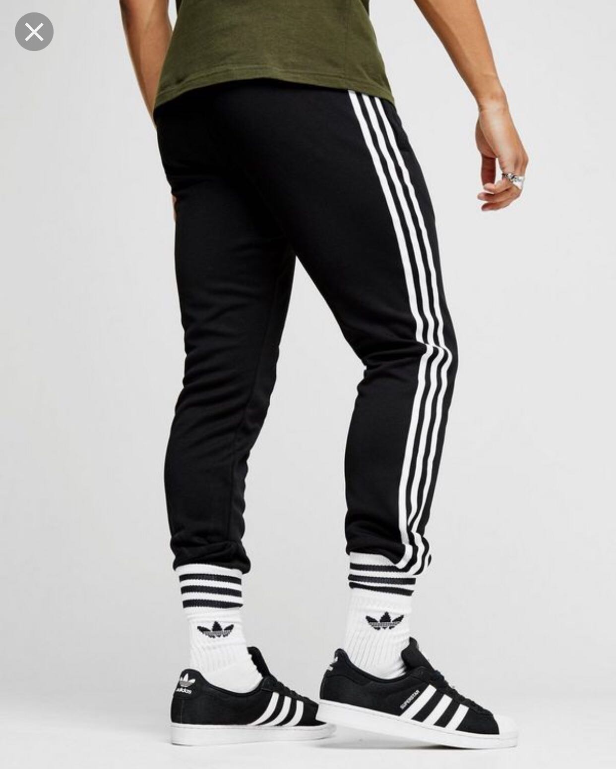 new arrival 98448 dad9b Adidas Original Superstar Skinny Cuffed Joggers, Women s Fashion, Clothes,  Pants, Jeans   Shorts on Carousell