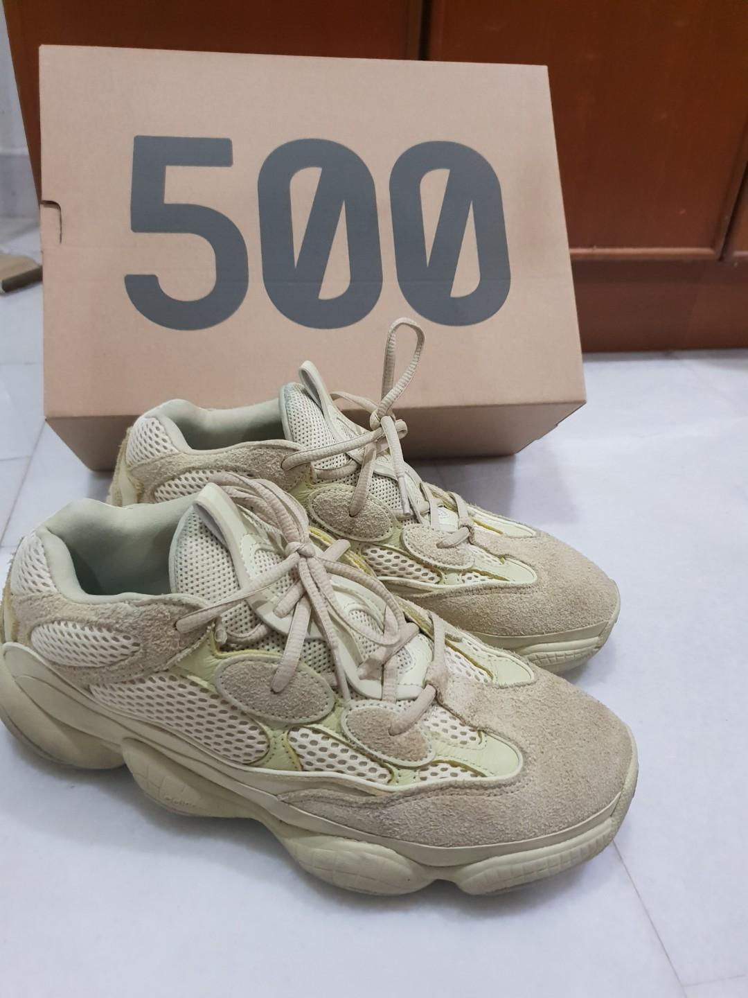 promo code 8e97e d4847 Adidas yeezy 500 super moon yellow, Men's Fashion, Footwear ...