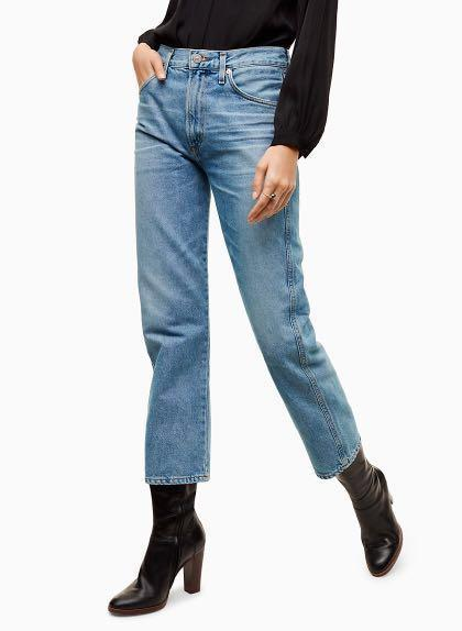 Aritzia Citizens of Humanity Liv Straight Crop Jeans 26