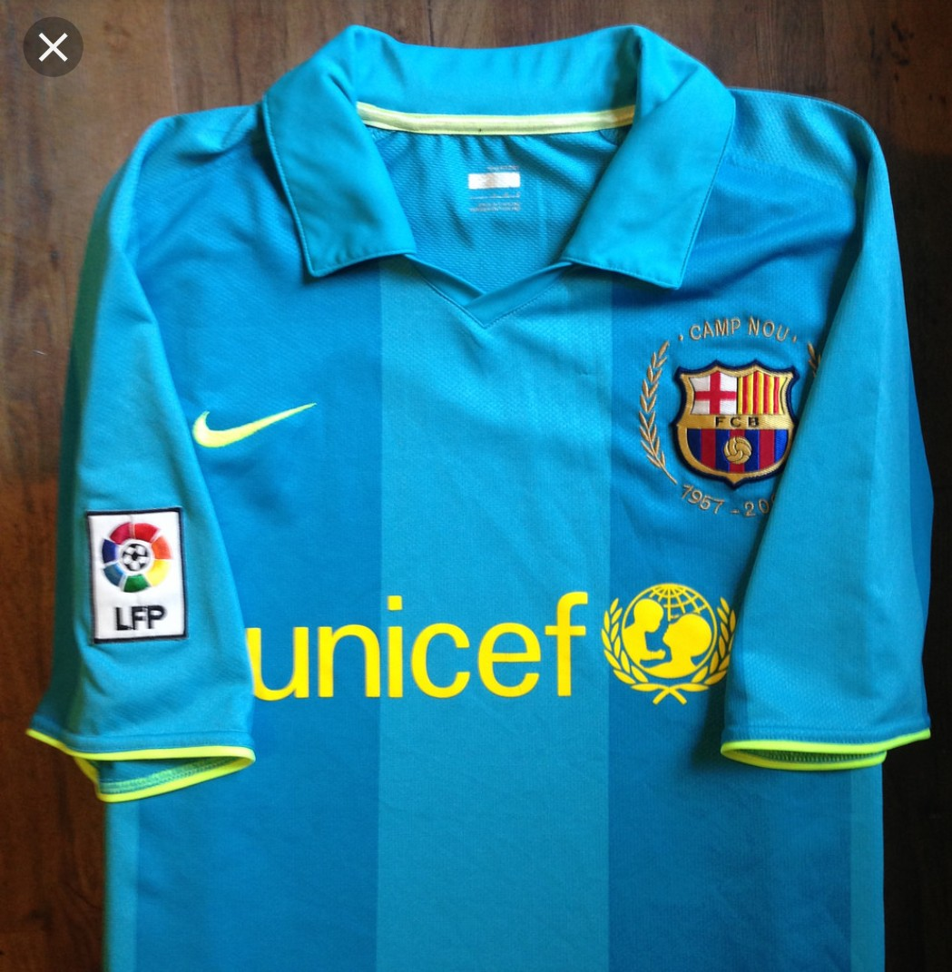 3fed9fce710 Authentic Barcelona 07-08 Away Jersey, Sports, Sports Apparel on ...
