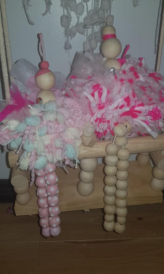 BALLERINA DOLLS WOODEN DECORATION DECOR DISPLAY DOLL HANGING DOLL TUTU CHRISTMAS ONES AVAILABLE