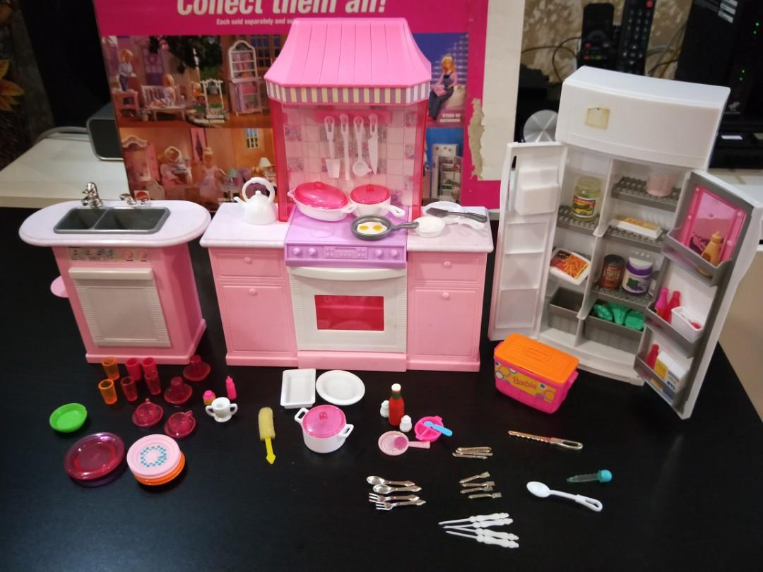 Barbie Kitchen Playset Toys Games Bricks Figurines On