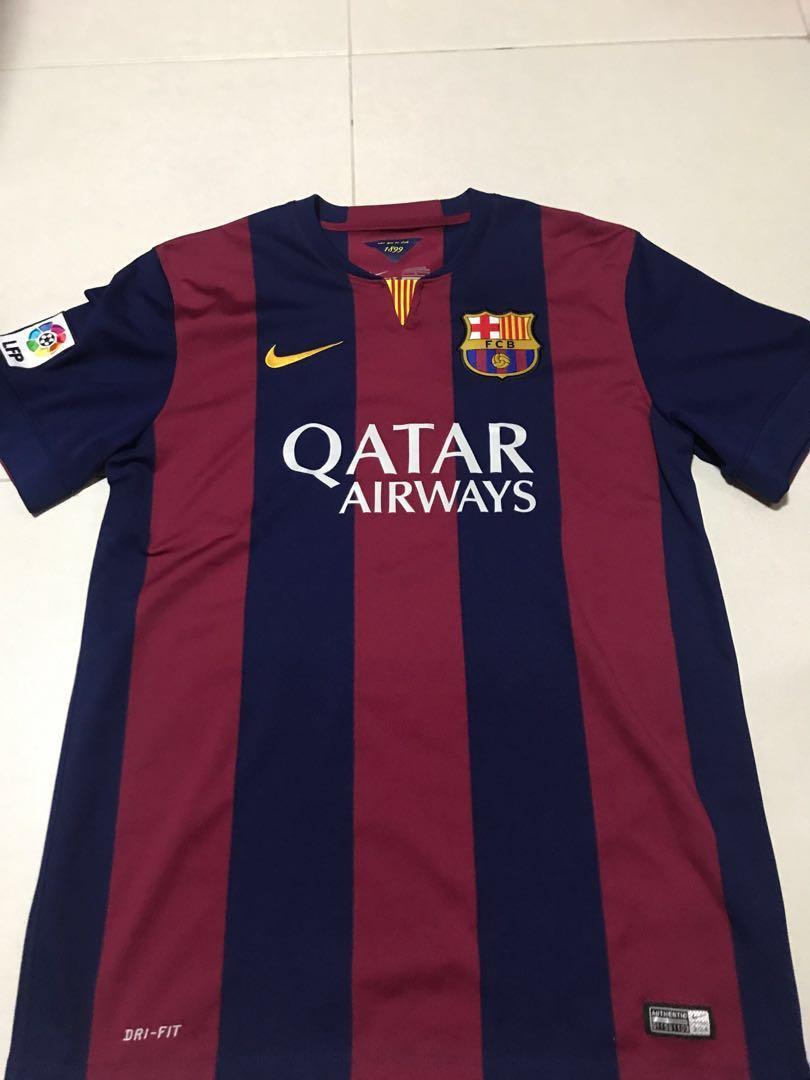 hot sale online 65bac 3b563 Barcelona Jersey 14/15 season, Sports, Sports Apparel on ...