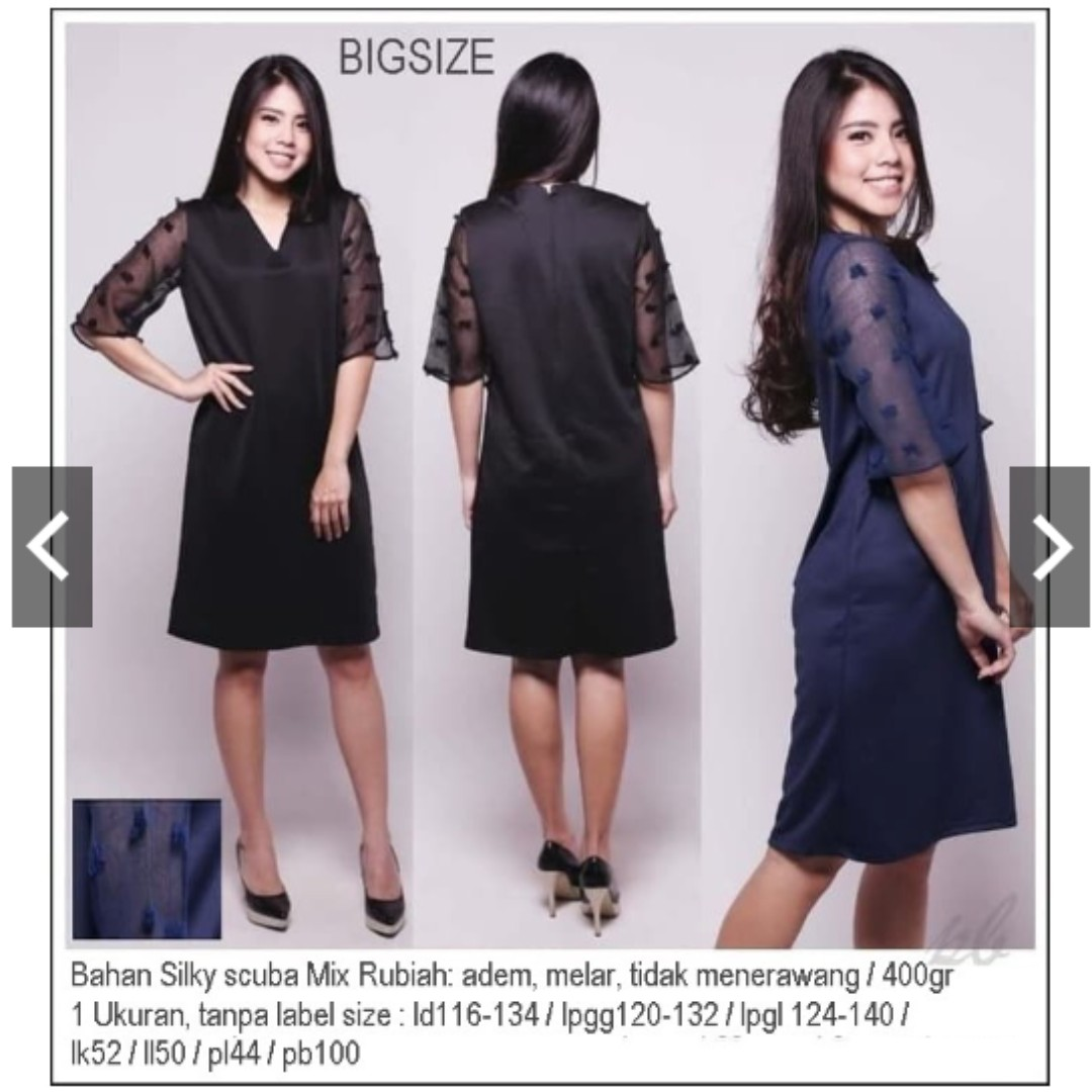 Black Dress Jumbo Xxl Xxxl Dress Hitam Jumbo Dress Pesta Bigsize