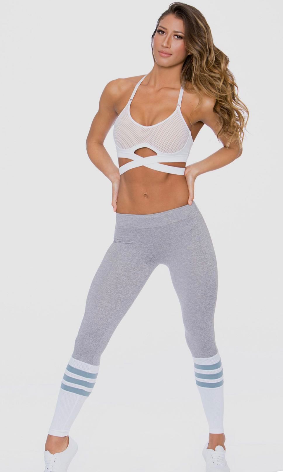 20f4f0c5209 Bombshell sock leggings in Platinum
