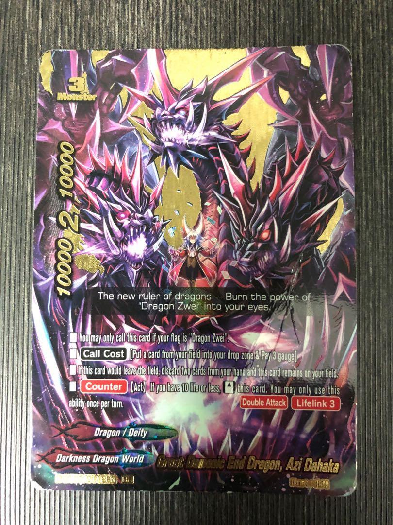 Buddyfight - Azi Dhahaka great demonic end dragon Buddy Rare