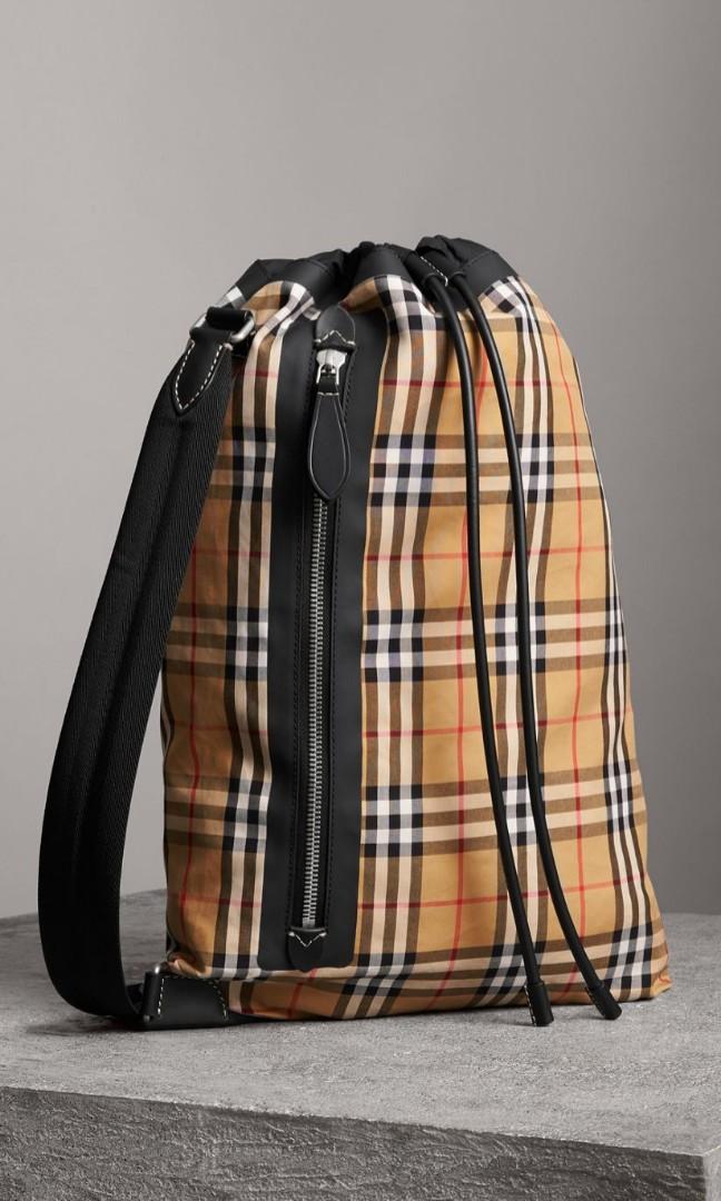 Burberry Medium Vintage Check Cotton Duffle Bag, Luxury, Bags ... 86ba053e79