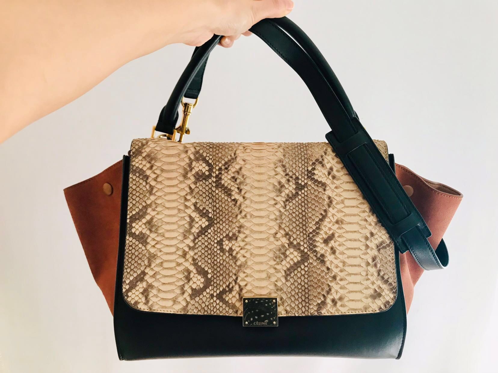 e79ed9f0f1 CELINE Trapeze python bag small (Preloved)