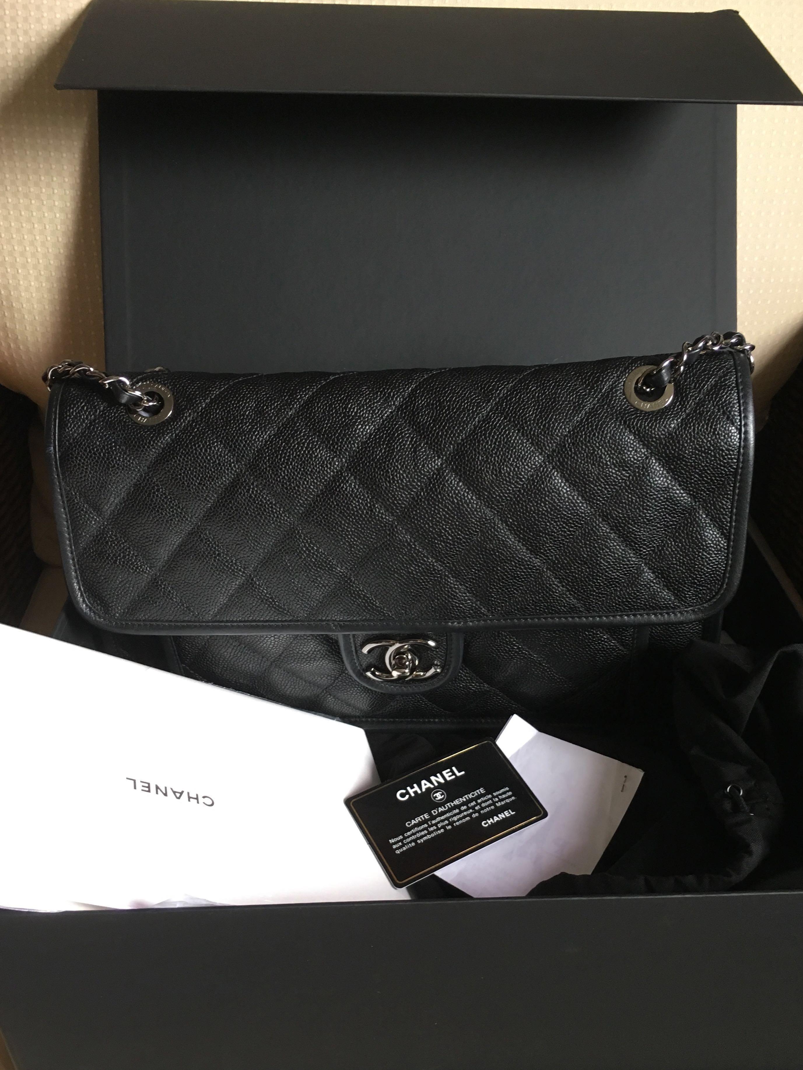 9a469df6297f Chanel jumbo French Riviera flap, Luxury, Bags & Wallets, Handbags ...