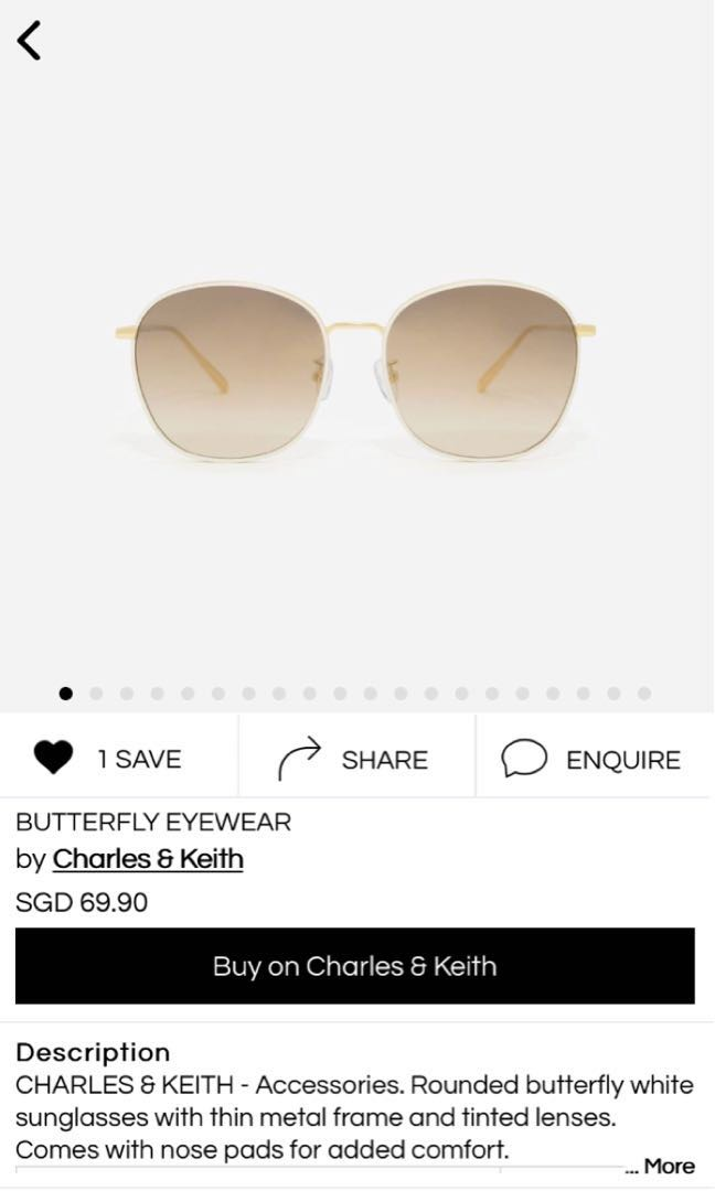 91b2fb2569a Charles Keith Butterfly Eyewear (UP  69.90)