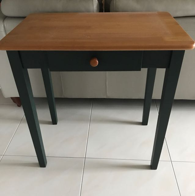 Country Style Small Kitchen Table With Drawer Furniture Tables Chairs On Carousell