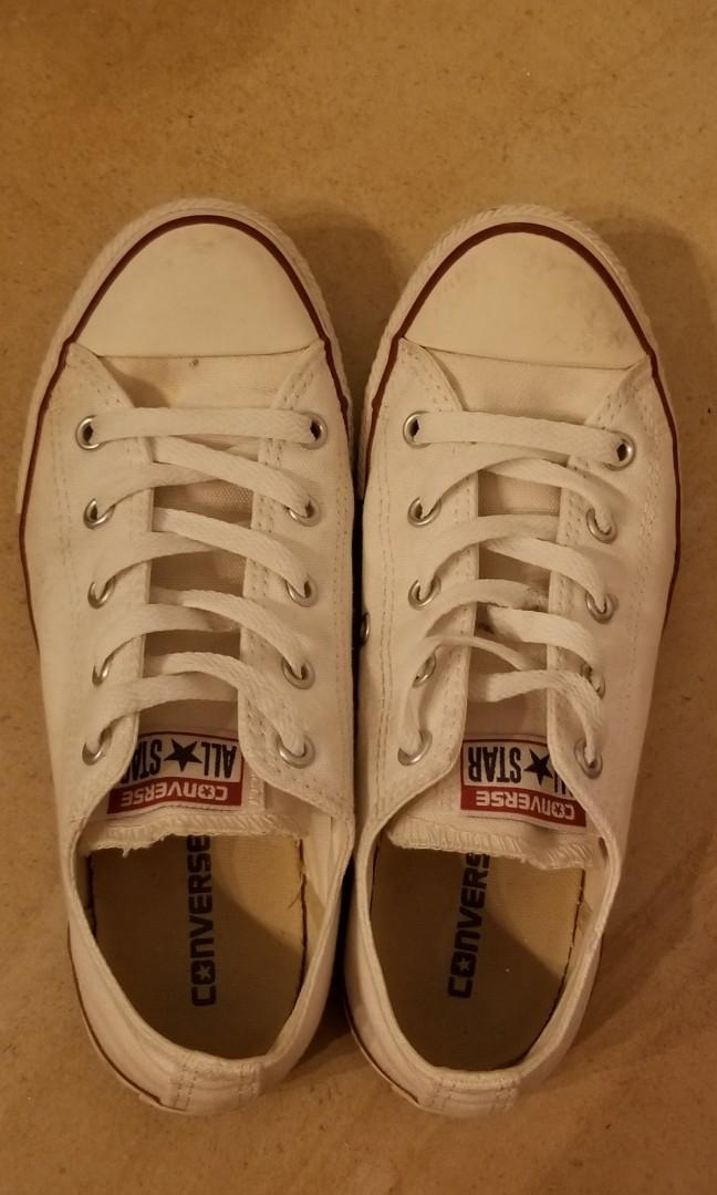 Coverse white low top