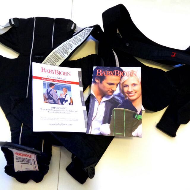 eae3cc427b7 For Sale  Pre-loved Baby Bjorn Baby Carrier Active with Back Lumbar ...