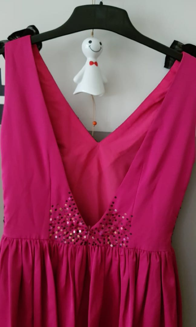 Gaun Pesta Warna Pink Fanta Women S Fashion Women S Clothes Tops