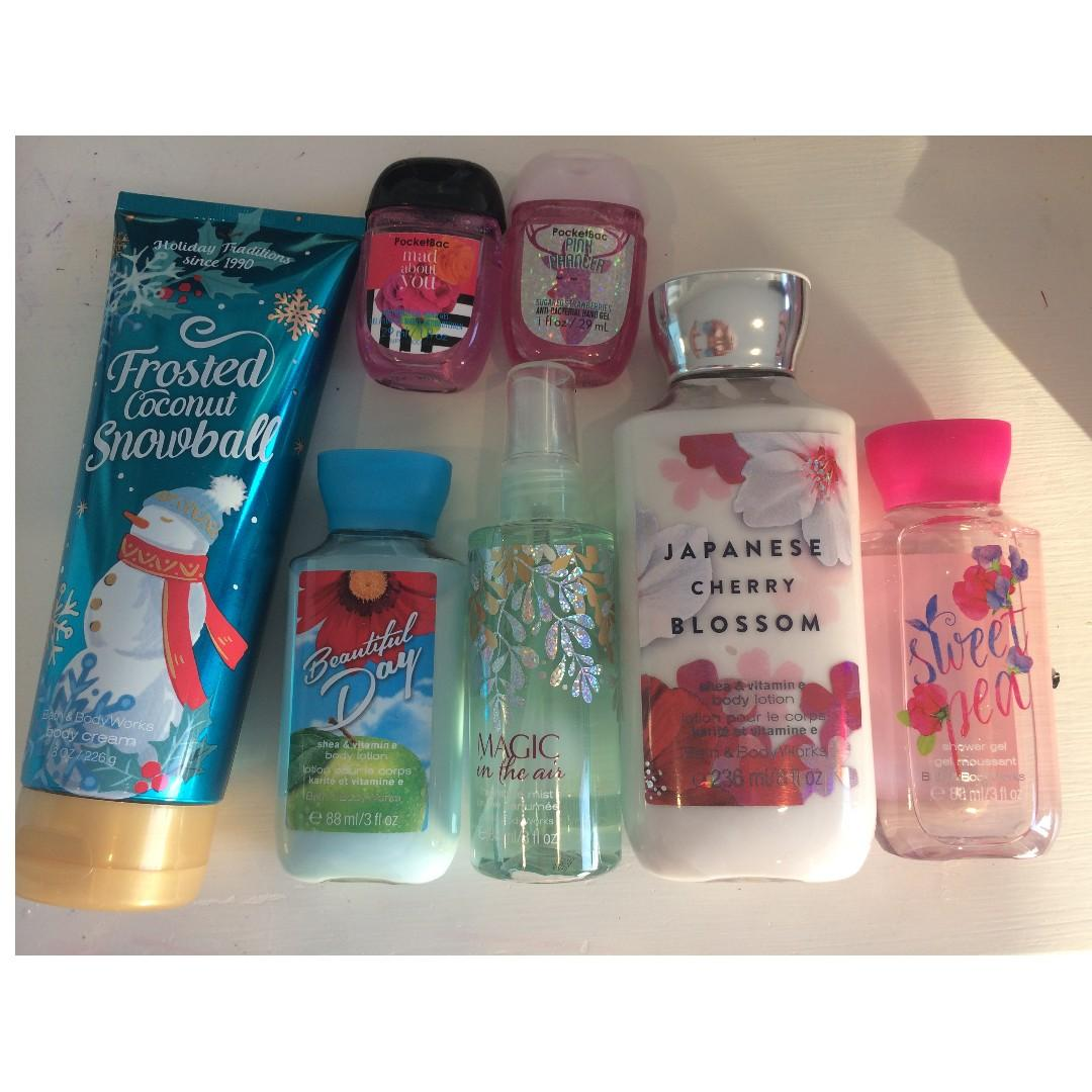 Giftbox of Bath and Body works, Victoria secret and more!!! All brand new - never used!!