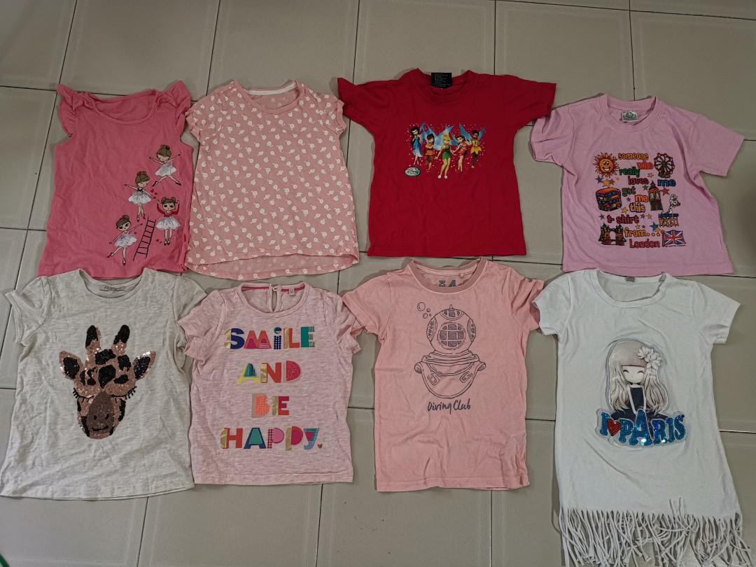 5bfed8a60 Girls t shirt bundle sale, Babies & Kids, Girls' Apparel, 4 to 7 ...
