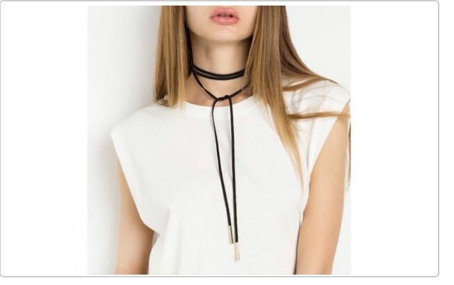 Grey wrap necklace